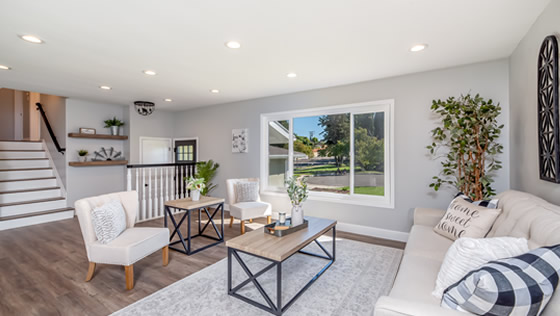 Living space designed by Sandy Springs Home Improvement